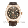 Mens Rolex Sky-dweller 326135 42 MM Case Automatic Movement Brown Dial