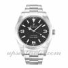 Mens Rolex Explorer 214270 39 MM Case Automatic Movement Black Quarter Dial