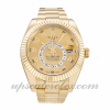 Mens Rolex Sky-dweller 326938  Automatic Movement Champagne Dial 42 MM Case