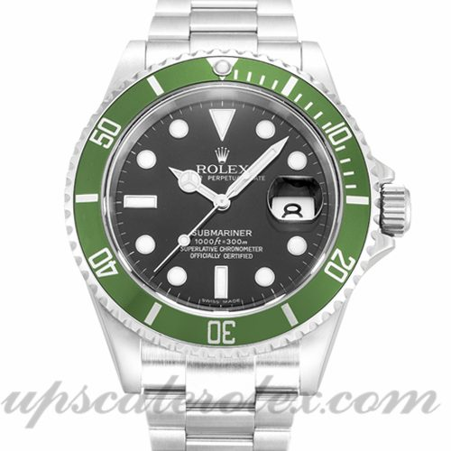 Mens Rolex Submariner 16610 LV 40 MM Case Automatic Movement Black Dial