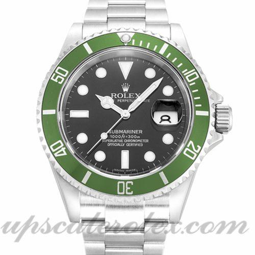 Mens Rolex Submariner 16610 LV 40 MM Case Automatic Movement Black Dial