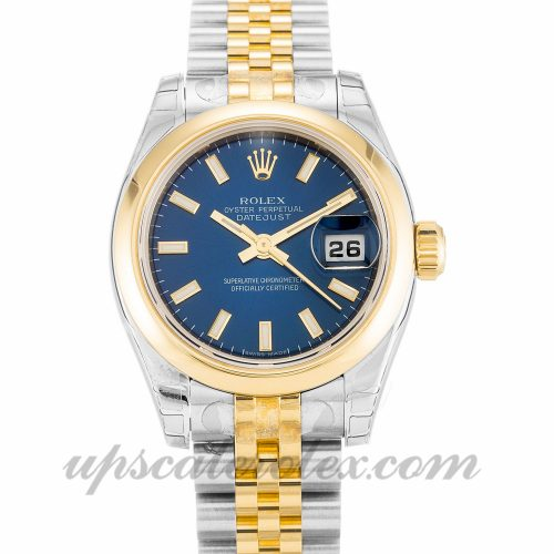 Ladies Rolex Datejust Lady 179163 26 MM Case Automatic Movement Blue Dial