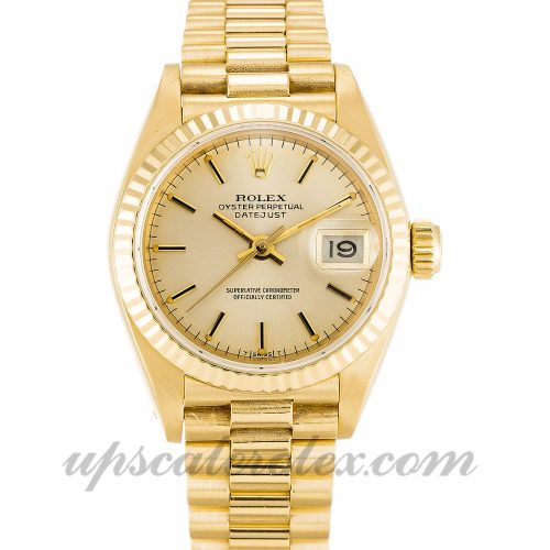 Ladies Rolex Datejust Lady 69178 26 MM Case Automatic Movement Champagne Dial