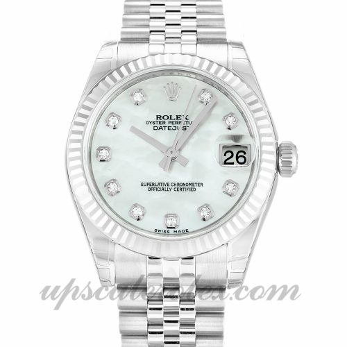 Ladies Rolex Datejust Lady 178274 31 MM Case Automatic Movement Mother of Pearl - White Diamond Dial