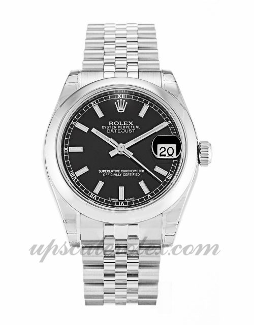 Ladies Rolex Datejust Lady 178240 31 MM Case Automatic Movement Black Dial