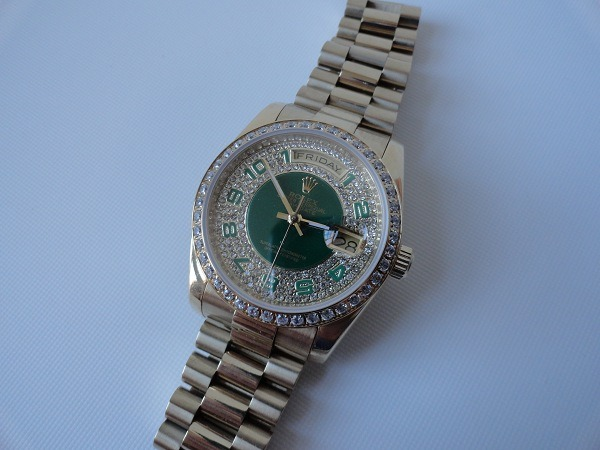 replica Rolex Day-Date diamonds