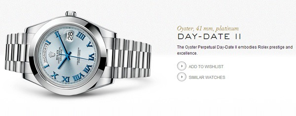 Rolex Day-Date II official website