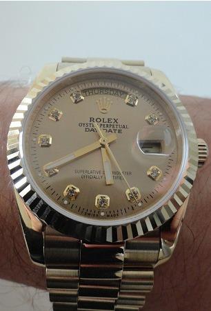 Rolex Day-Date full yellow gold replica watch