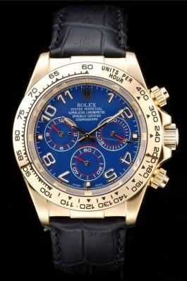 Rolex Daytona yellow gold blue dial replica watch