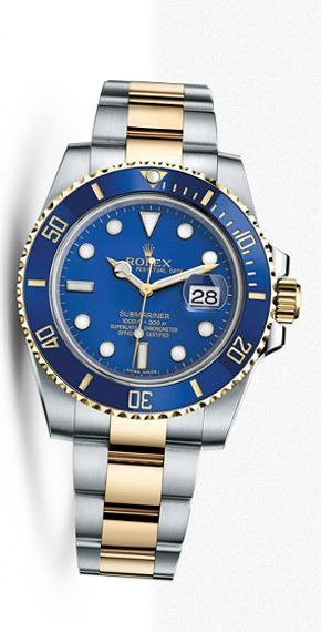 Rolex Submariner Date yellow gold and steel