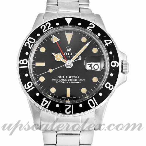 Mens Rolex GMT Master 1675 40 MM Case Automatic Movement Black Dial