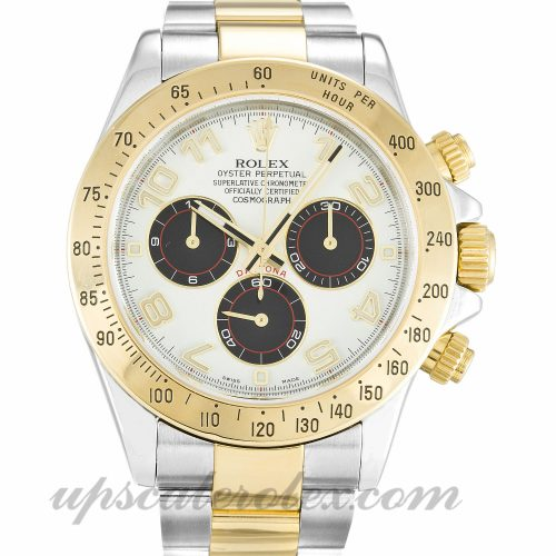 Mens Rolex Daytona 116523 40 MM Case Automatic Movement White Dial