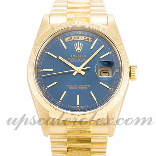 Mens Rolex Day-Date 18248 36 MM Case Automatic Movement Blue Dial