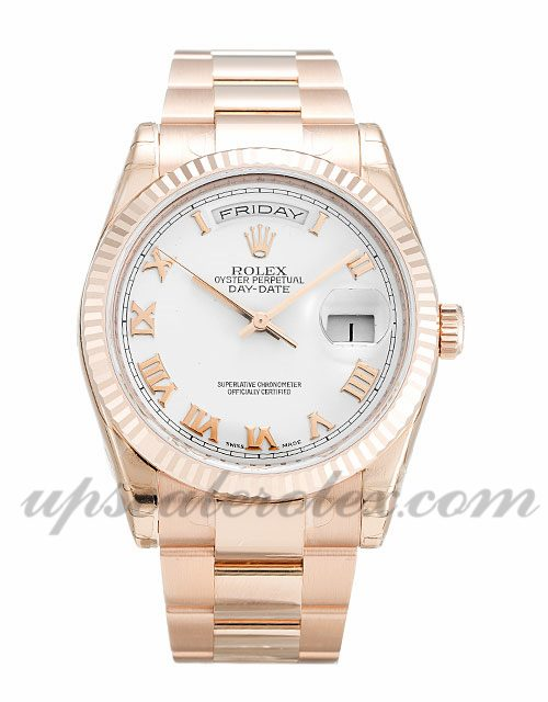 Mens Rolex Day-Date 118235 F 36 MM Case Automatic Movement White Dial