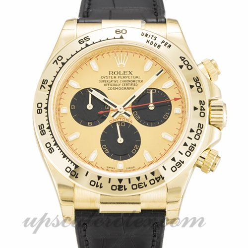 Mens Rolex Daytona 116518 40 MM Case Automatic Movement Champagne Dial
