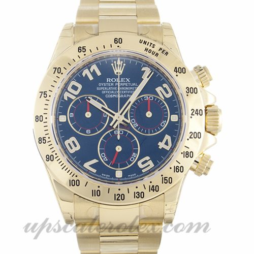 Mens Rolex Daytona 116528 40 MM Case Automatic Movement Blue Dial
