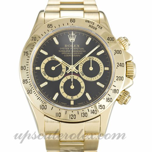 Mens Rolex Daytona 16528 40 MM Case Automatic Movement Black Dial