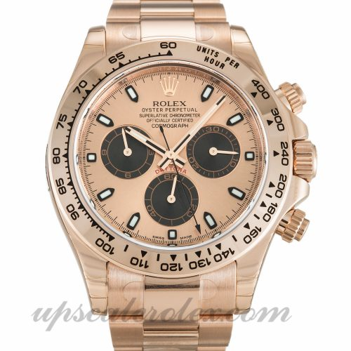 Mens Rolex Daytona 116505 40 MM Case Automatic Movement Rose Dial