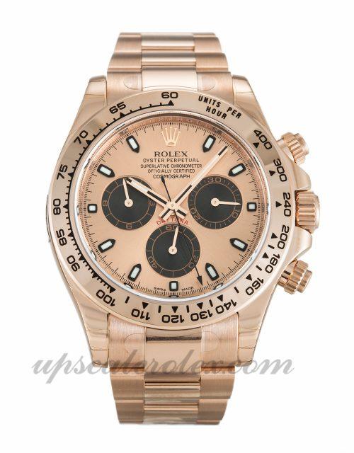 Mens Rolex Daytona 116505 40 MM Case Automatic Movement Rose Dial