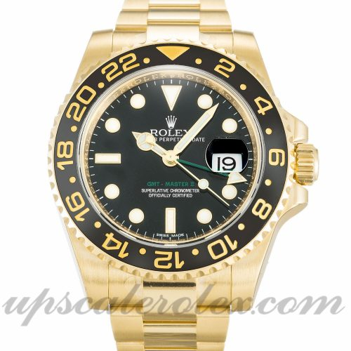 Mens Rolex GMT Master II 116718 LN 40 MM Case Automatic Movement Black Dial