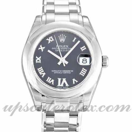 Unisex Rolex Datejust Special Edition 81209 31 MM Case Automatic Movement Purple Diamond Dial