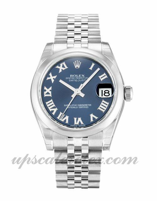 Ladies Rolex Datejust Lady 178240 30 MM Case Automatic Movement Blue Dial