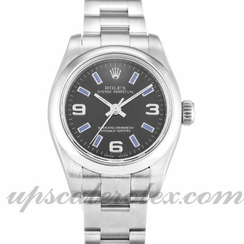 Ladies Rolex Lady Oyster Perpetual 176200 26 MM Case Automatic Movement Black Quarter Dial