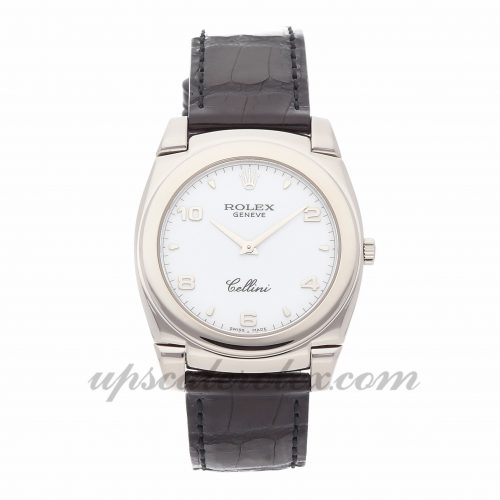 Mens Rolex Cellini Cestello 5330/9 36mm Case Mechanical (Hand-winding) Movement White Dial
