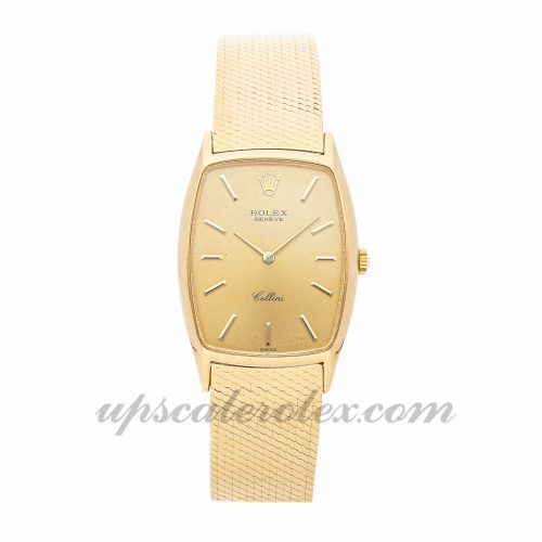 Ladies Rolex Cellini 3807 26mm X 31mm Case Mechanical (Hand-winding) Movement Champagne Dial
