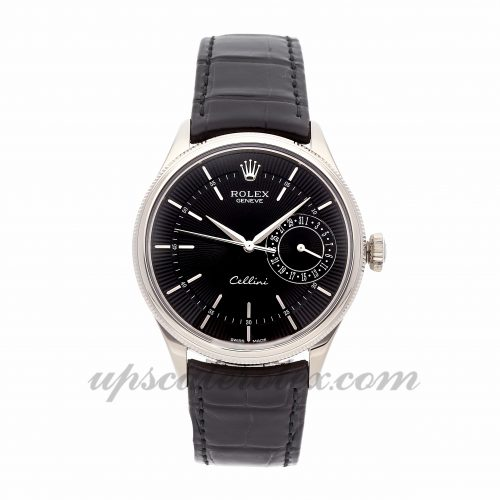 Mens Rolex Cellini Date 50519 39mm Case Mechanical (Automatic) Movement Black Dial