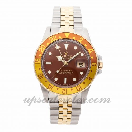 Mens Rolex Gmt Master 16753 40mm Case Mechanical (Automatic) Movement Brown Dial