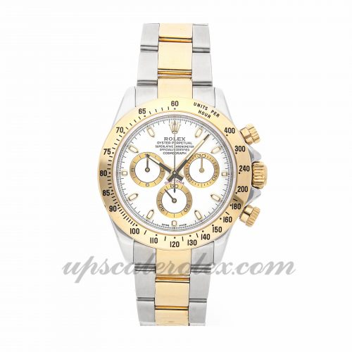 Mens Rolex Daytona 116523 40mm Case Mechanical (Automatic) Movement White Dial