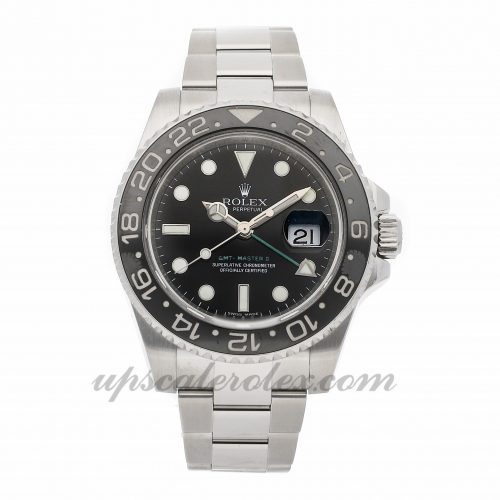 Mens Rolex Gmt-master Ii 116710ln 40mm Case Mechanical (Automatic) Movement Black Dial