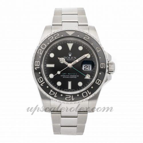 Mens Rolex Gmt-master Ii 116710ln 40mm Case Mechanical (Automatic) Movement Black Dial