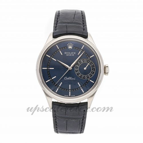 Mens Rolex Cellini Date 50519 39mm Case Mechanical (Automatic) Movement Blue Dial