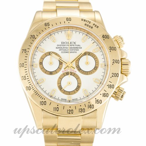 Mens Rolex Daytona 116528 40 MM Case Automatic Movement White Dial