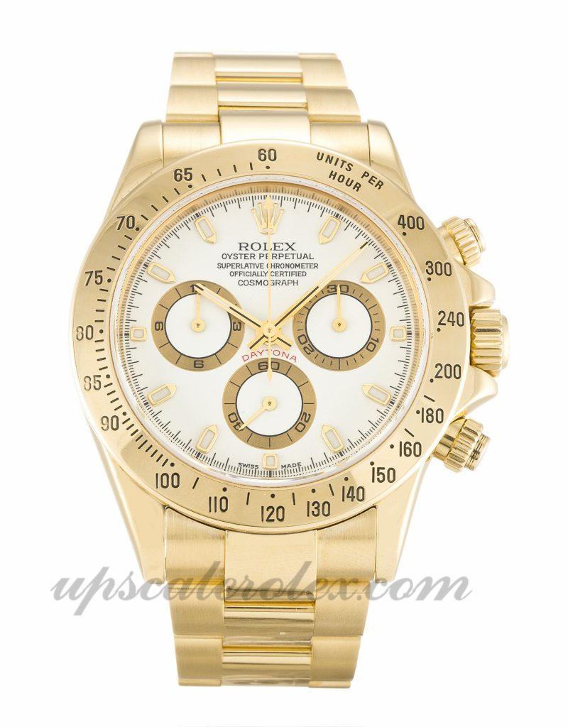 Mens Rolex Daytona 116528 40 MM Case Automatic Movement White Dial