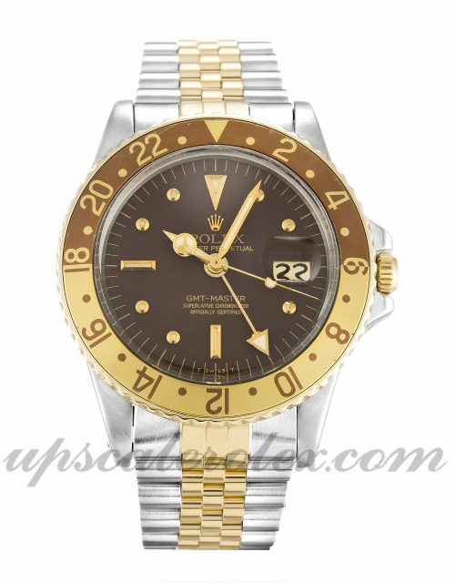 Mens Rolex GMT Master 1675 40 MM Case Automatic Movement Copper Dial