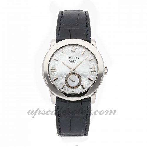 Mens Rolex Cellini Cellinium 5240 35mm Case Mechanical (Hand-winding) Movement White Dial