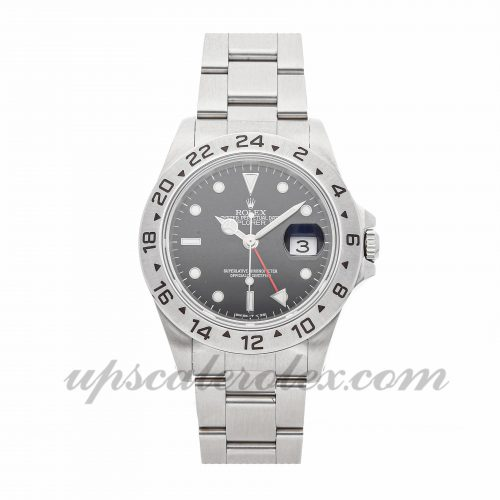 Mens Rolex Explorer Ii 16570 40mm Case Mechanical (Automatic) Movement Black Dial