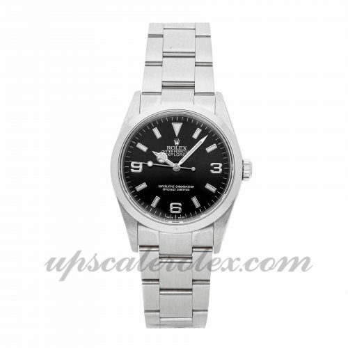 Mens Rolex Explorer 114270 36mm Case Mechanical (Automatic) Movement Black Dial