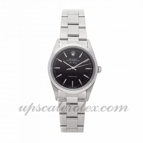 Ladies Rolex Air King 14000 34mm Case Mechanical (Automatic) Movement Black Dial