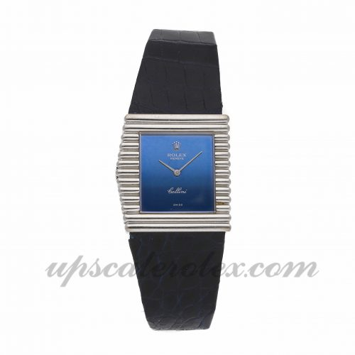 Ladies Rolex Cellini King Midas 4015 26mm X 29mm Case Mechanical (Hand-winding) Movement Blue Dial