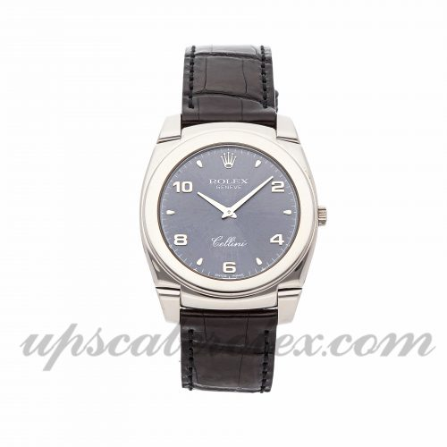 Mens Rolex Cellini Cestello 5330/9 36mm Case Mechanical (Hand-winding) Movement Slate Gray Dial