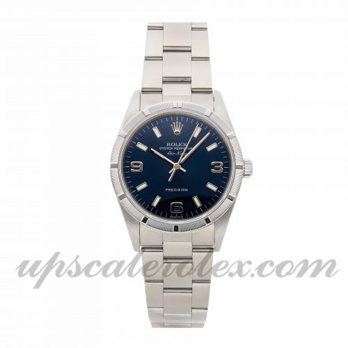 Mens Rolex Air-king 14010 34mm Case Mechanical (Automatic) Movement Blue Dial