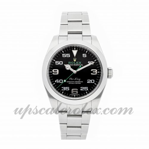 Mens Rolex Air-king 116900 40mm Case Mechanical (Automatic) Movement Black Dial