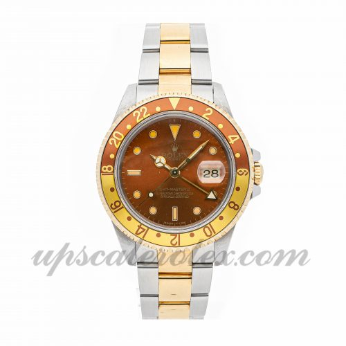 Mens Rolex Gmt Master Ii 16713 40mm Case Mechanical (Automatic) Movement Brown Dial