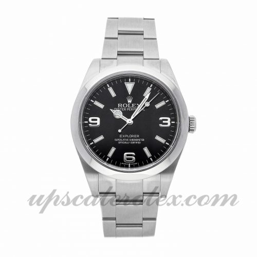 Mens Rolex Explorer 214270 39mm Case Mechanical (Automatic) Movement Black Dial