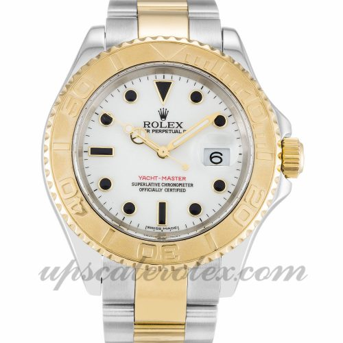Mens Rolex Yacht-Master 16623 40 MM Case Automatic Movement White Dial