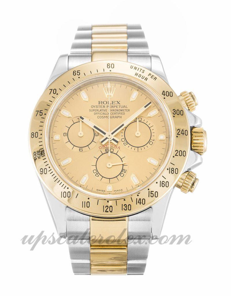 Mens Rolex Daytona 116523 40 MM Case Automatic Movement Champagne Dial